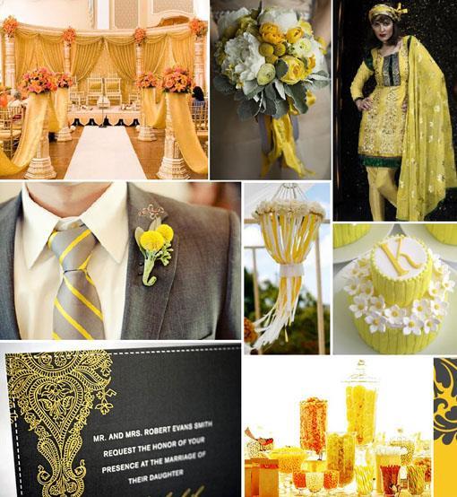 Inspiration Board: Yellow Gray