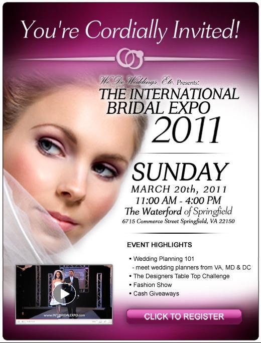 International Bridal Expo - March 20th - Springfield, VA