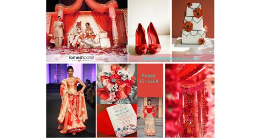 Indian Wedding Color Inspiration- Poppy Red