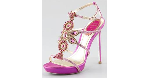 Tuesday Shoesday- Pink Jewelled Shoes for Brides