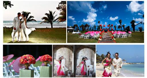 Indian Wedding Color Inspiration Palette - Tropical Paradise