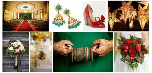 Indian Wedding Color Inspiration Palette - Festive Holidays