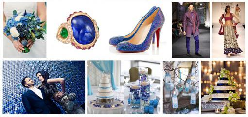 Indian Wedding Color Inspiration Palette - Winter Wonderland
