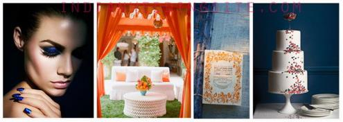 Indian Wedding Color Inspiration - Cobalt & Tangerine