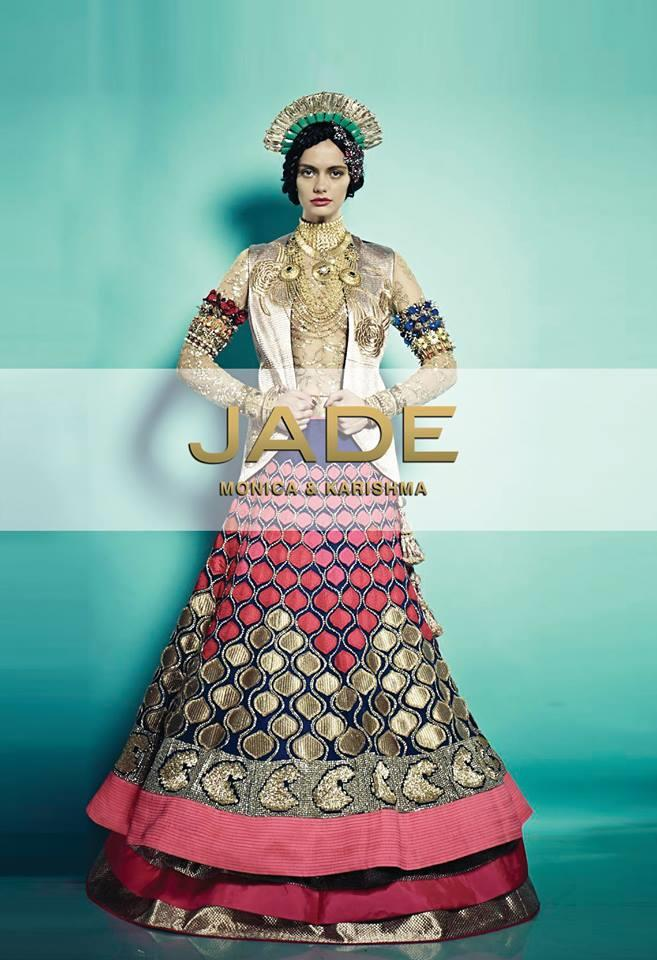JADE bridal lengha and jacket
