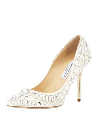 Jimmy Choo Trina Pointy Toe Jewel Pump