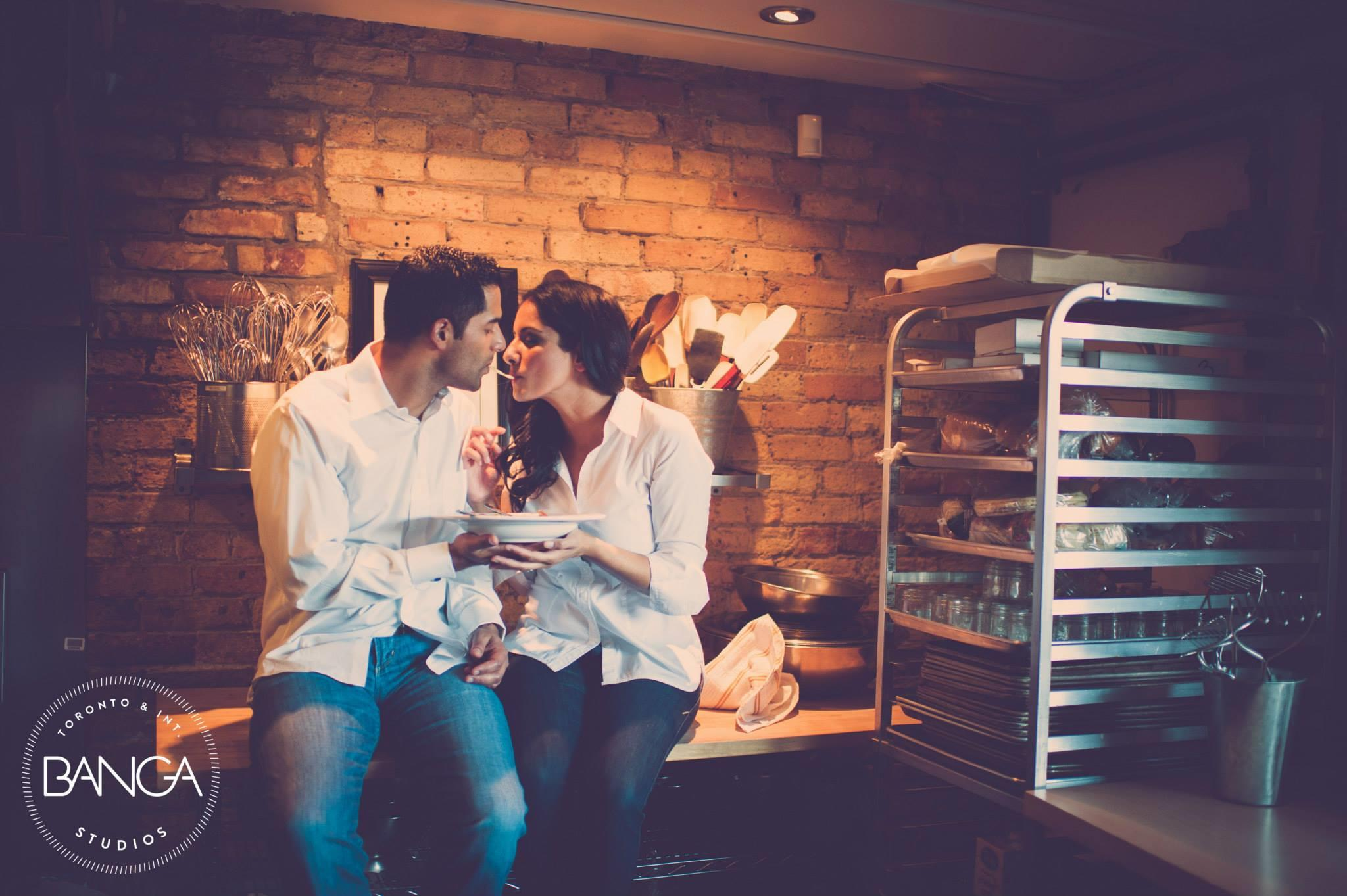 Cooking Themed Indian Engagement Session by Banga Photography