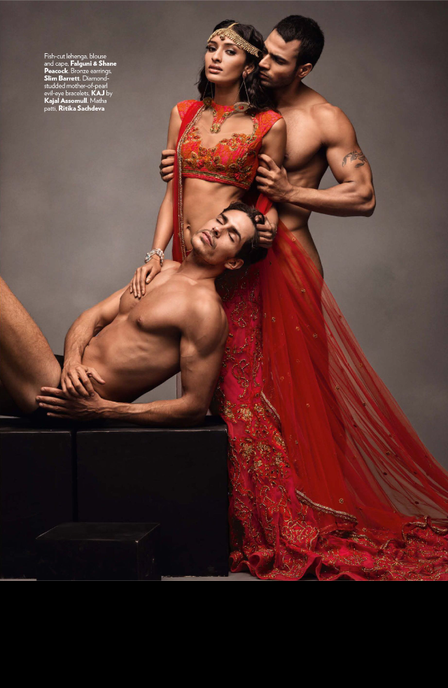 Lisa Haydon As A Sexy Modern Indian Bride For Vogue India