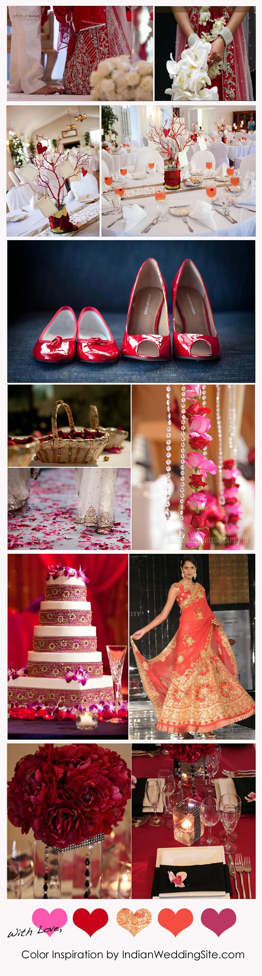 Indian Wedding Color Inspiration - Valentine