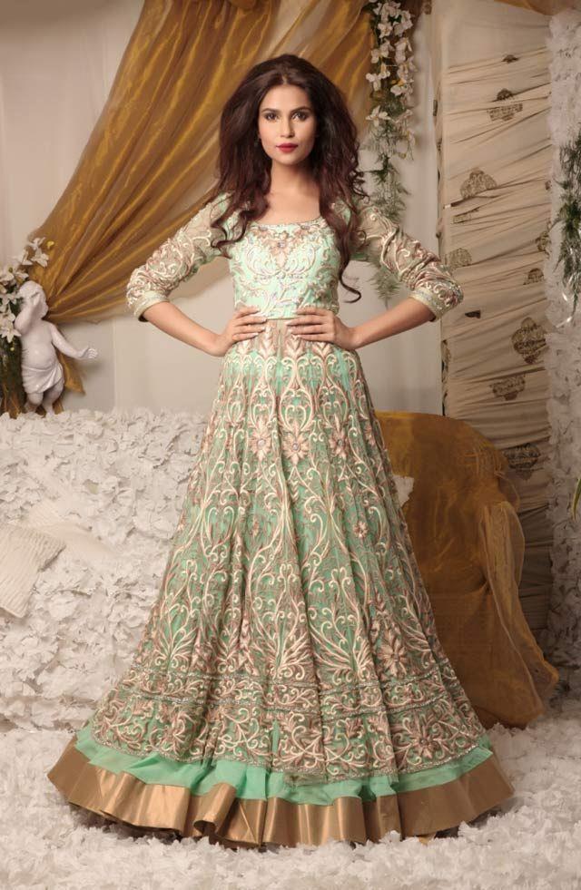 Mint Green Indian Bridal Wedding Clothes
