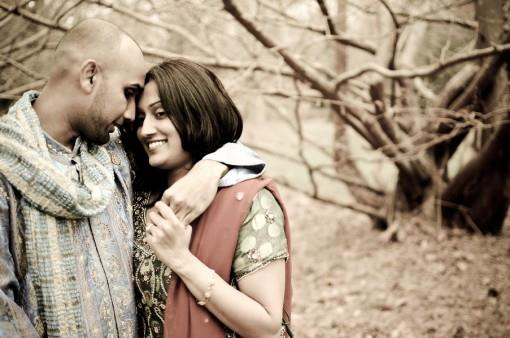 New York Indian Engagement Session by AH Portrait Photography