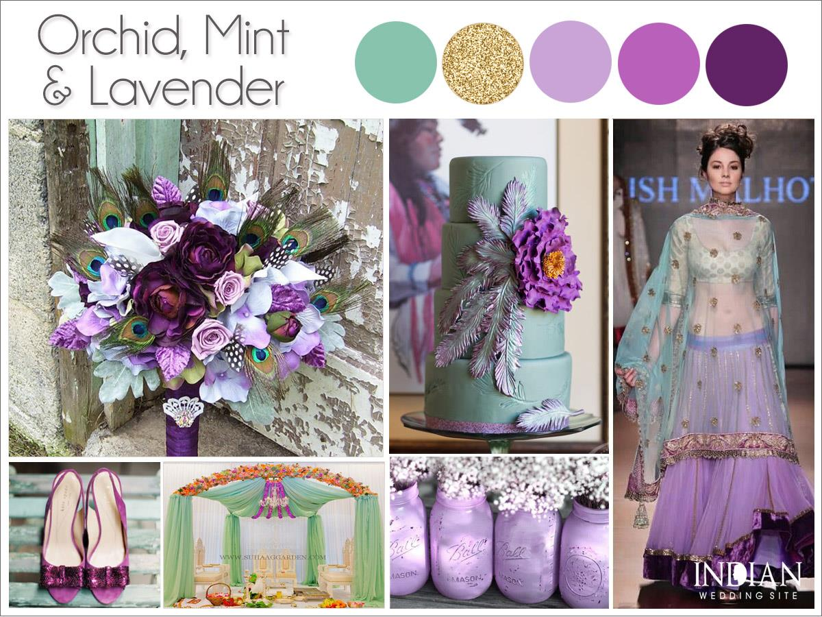 orchid mint lavender indian wedding color palette