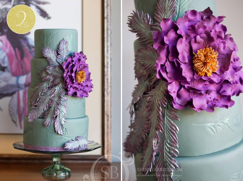 sedona bride mint orchid indian wedding cake