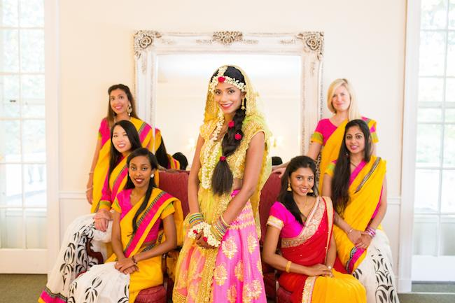 9a indian wedding bridesmaids