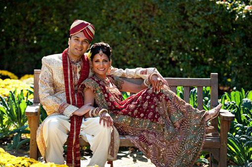 Outdoor Indian Wedding Portraits - Janice and Niraj