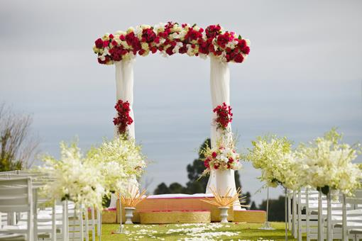 Outdoor Sri Lankan Wedding Ceremony by D Park Photography - 1