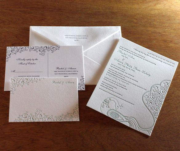 peacock indian wedding invitations by Ajalon