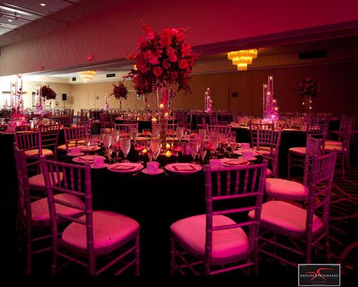 Pink Bollywood Inspired Wedding Reception