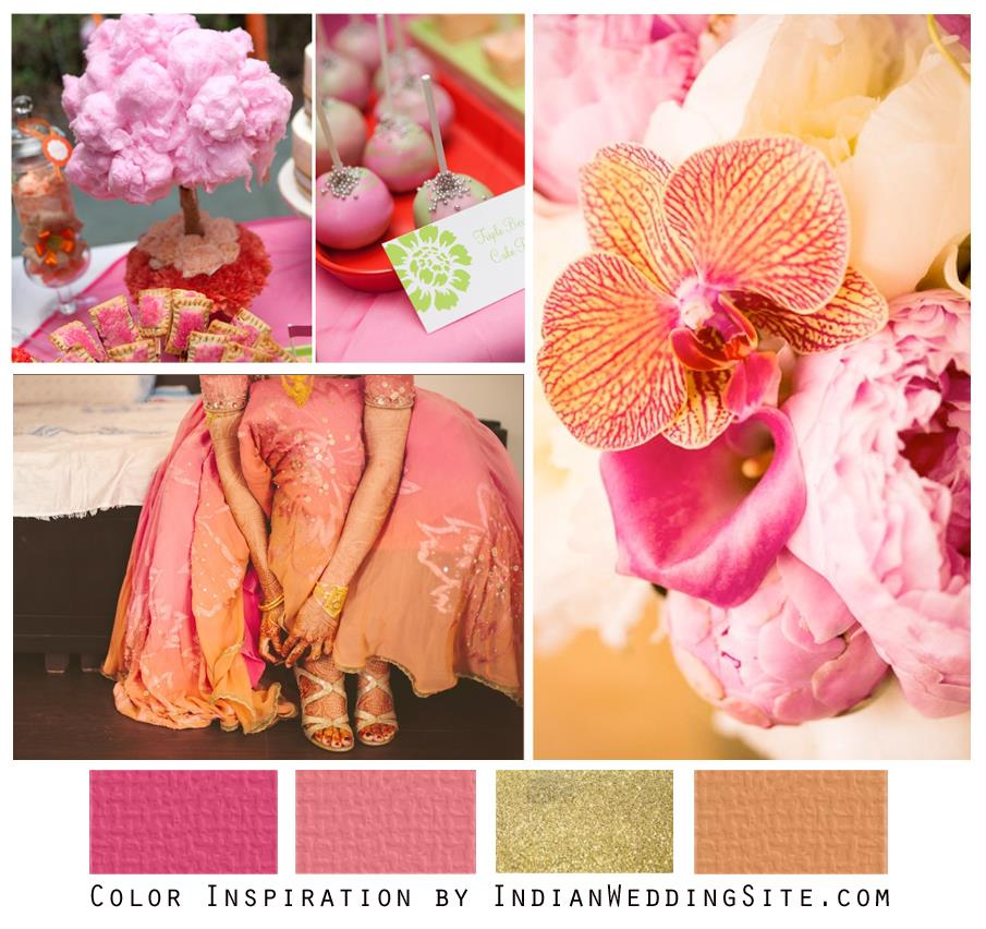 Pink, Peach and Gold - Indian Wedding Color Inspiration