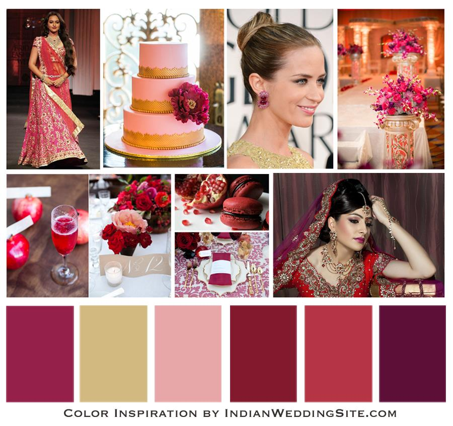 Indian Wedding Color Inspiration - Pomegranate Red