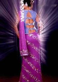 Shehnaai Couture purple sari