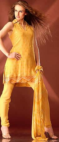 Shehnaai Couture yellow collar suit