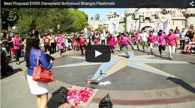 Flash Mob Indian Wedding Proposal at Disneyland