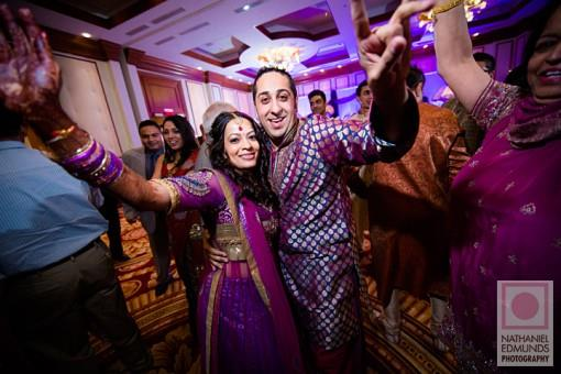 Purple and Gold Indian Garba at Conrad Indanapolis - 1