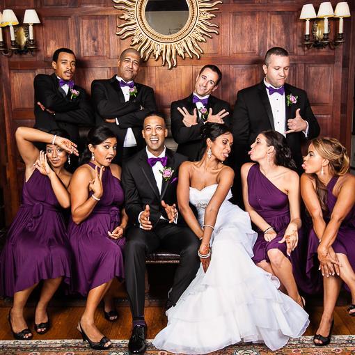 White Wedding On Youtube: Purple, White And Black New York Indian Wedding Reception