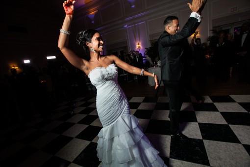 Purple, White and Black New York Indian Wedding Reception - 3