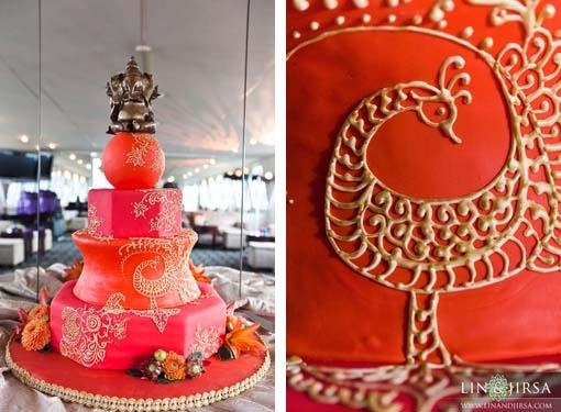 Shalini Vadhera and Tony Potts wedding reception cake
