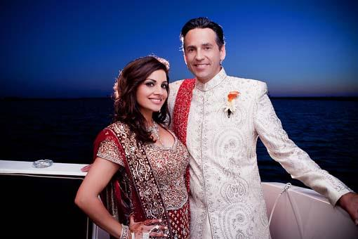 Shalini Vadhera and Tony Potts - Wedding Reception Portrait