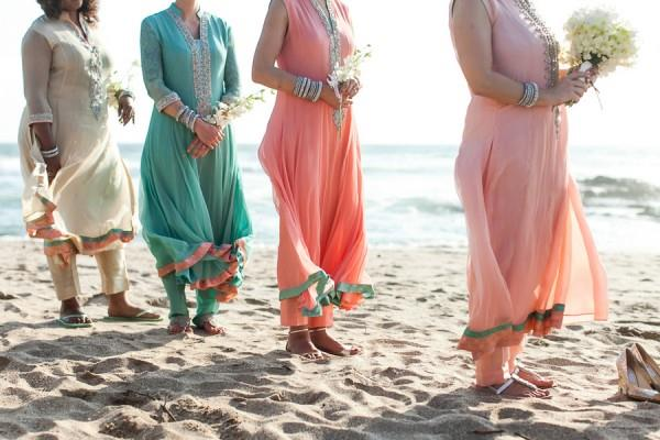 20a indian wedding beach bridesmaid