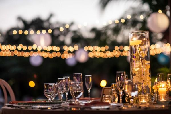 37a indian wedding outdoor light and table