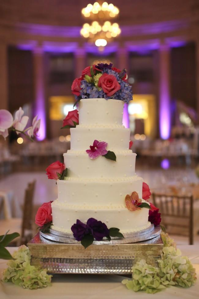 29a indian wedding white round 5 layer cake with flowers