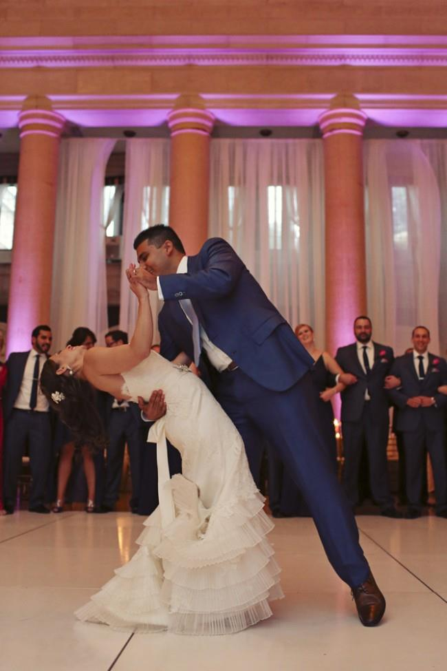 31a indian wedding first dance white gown reception
