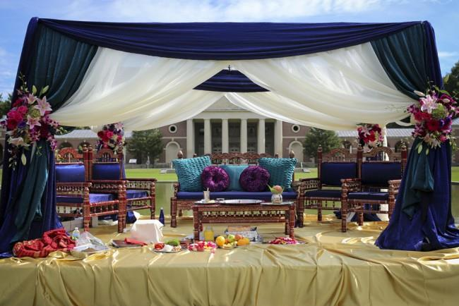 5a indian ceremony outdoor fabric mandap
