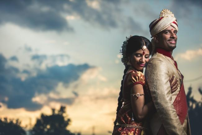 27a indian wedding outdoor portrait