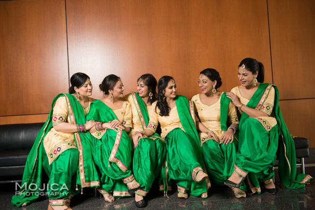 11 indian wedding green and gold bridal portrait