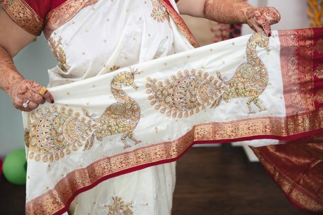 5a- bride with peacock saree