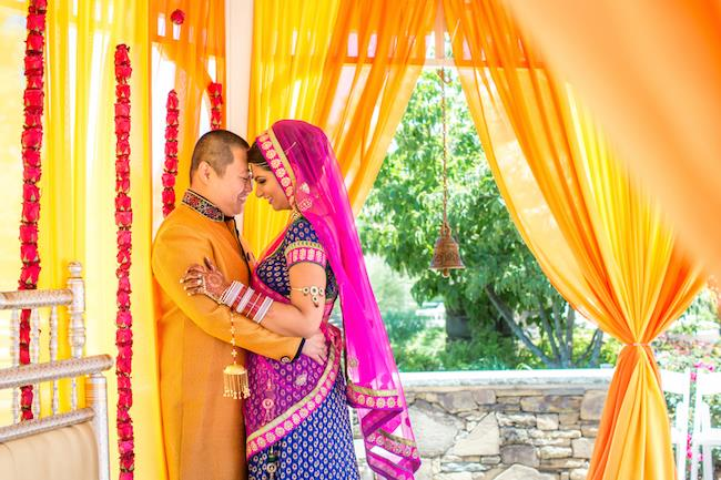 47a indian wedding portrait