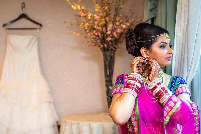 4a indian wedding bridal sari and gown