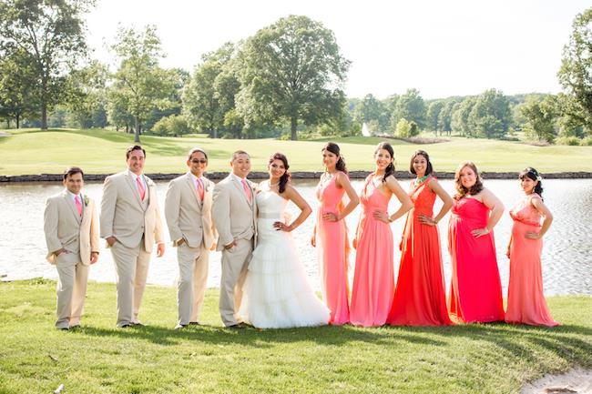73a indian wedding bridal party