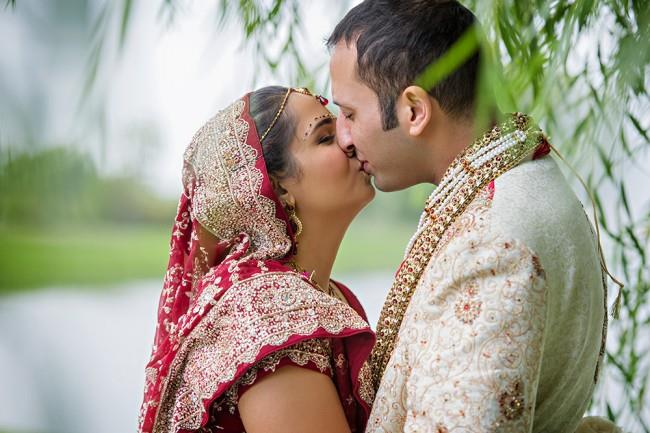 8 indian bride and groom portrait