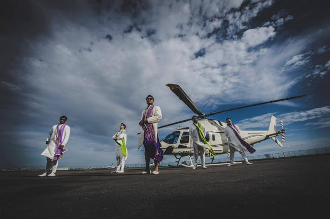 Indian Wedding Helicopter Baraat