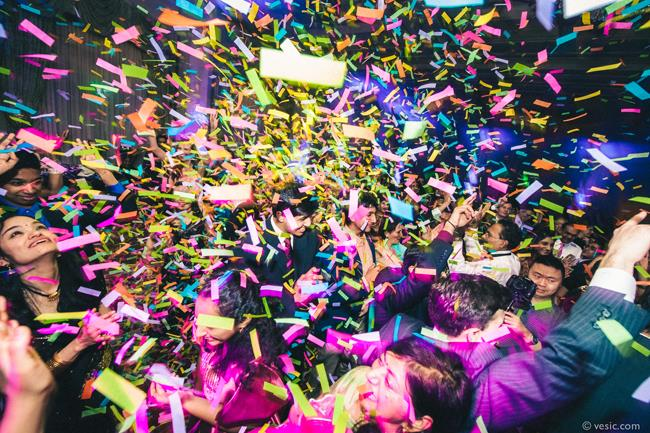 51a indian wedding reception confetti