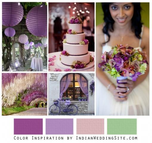 Wisteria & Lilac - Indian Wedding Color Inspiration