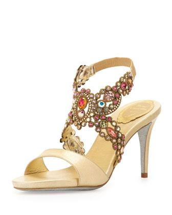 66146b835903 Rene Caovilla Jeweled Metallic Indian Wedding Sandals