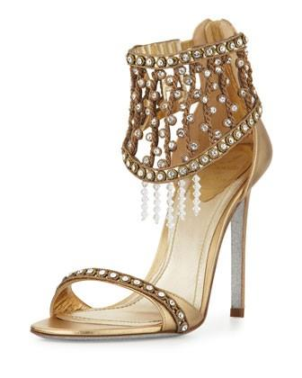 6f09e756df59 Rene Caovilla Metallic Crystal Indian Wedding Sandals