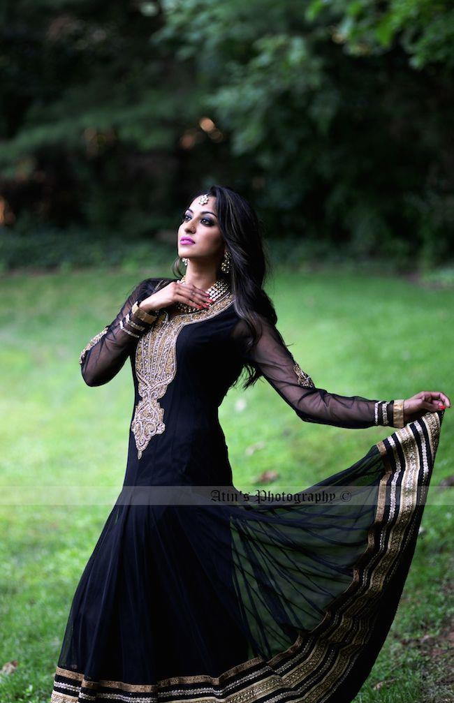 3 indian wedding black anarkhali